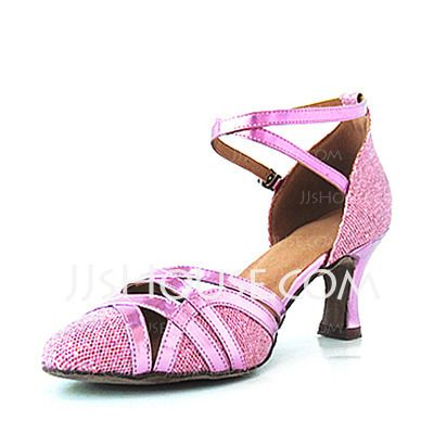 Dansschoenen - $28.99 - Imitatieleer Sprankelende Glitter Hakken Pumps Latijn Bruiloft Dansschoenen (053016436) http://jjshouse.com/nl/Imitatieleer-Sprankelende-Glitter-Hakken-Pumps-Latijn-Bruiloft-Dansschoenen-053016436-g16436