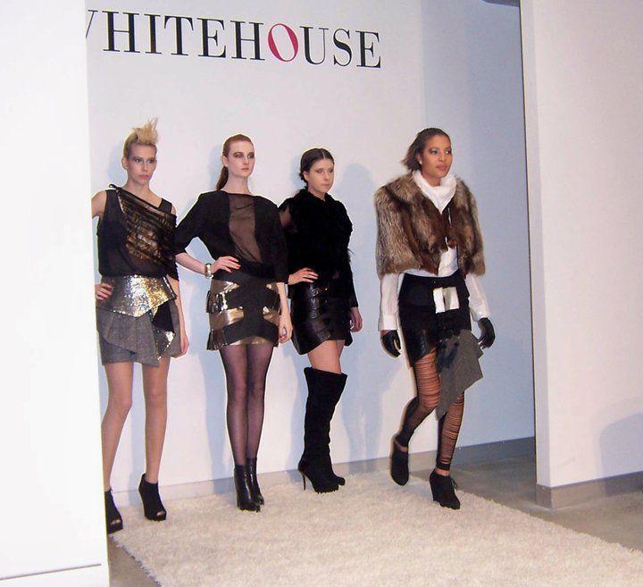Third model, skirt by Samantha Aravopoulos