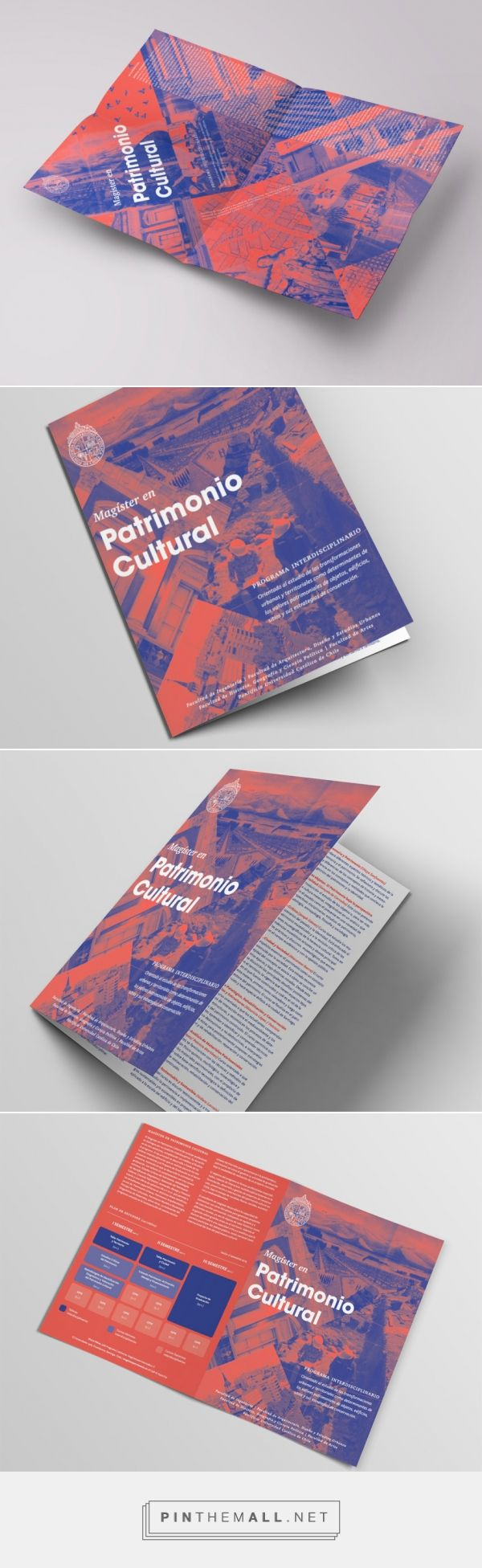 Poster Magister Patrimonio | Design by otrosperez.com  Design of a drop down poster for a Magister of Universidad Católica d Chile. - created via https://pinthemall.net