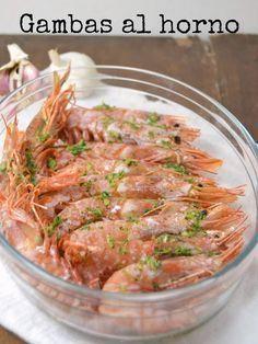 Cuuking! Recetas de cocina: Gambas al horno con ajo y perejil | https://lomejordelaweb.es/ Pinterest ^^ | https://pinterest.com/Ilovecocinar/