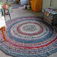 Crocheted Rag Rugs - 12-page booklet - via @Craftsy
