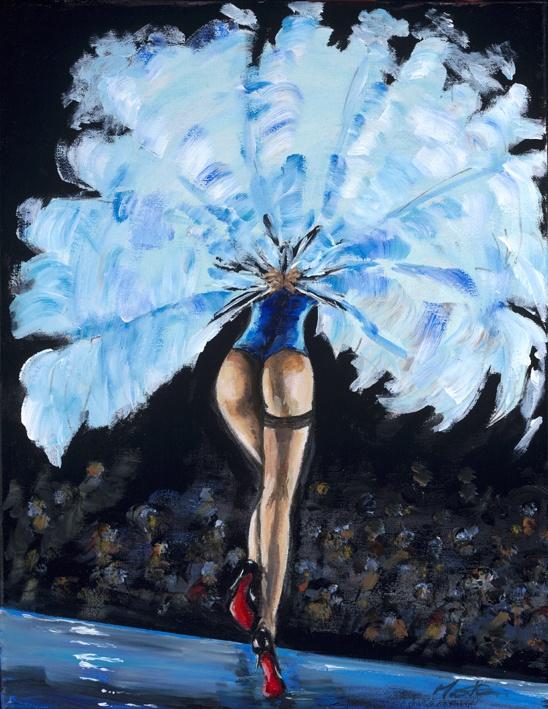 Rapsody in Blue Burlesque -   Original painting