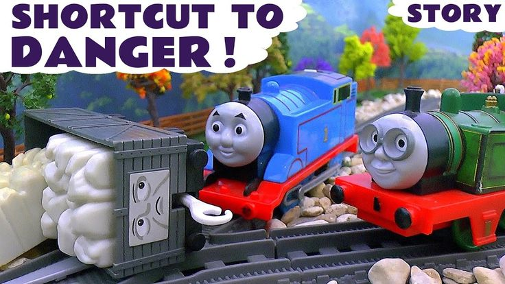 Thomas and Friends Episode with Joker Batman and Paw Patrol - Toy Trains...