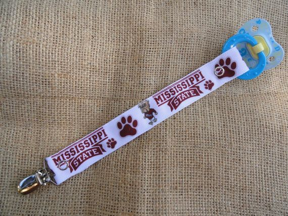 Mississippi State Bulldogs Inspired Pacifier by twinpeasinapod