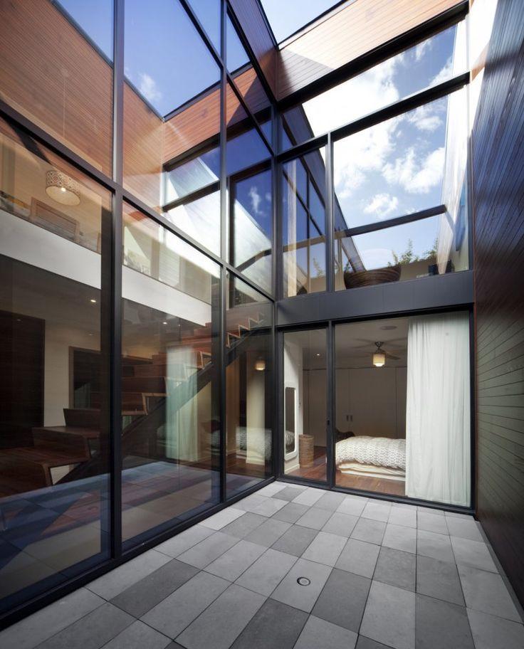 Blouin Tardif Architectes | Réalisations   Siamoises Mentana-Boyer, cour privée au coeur de la Cité  #Architecture #Montreal #urbain #urban #BTAE
