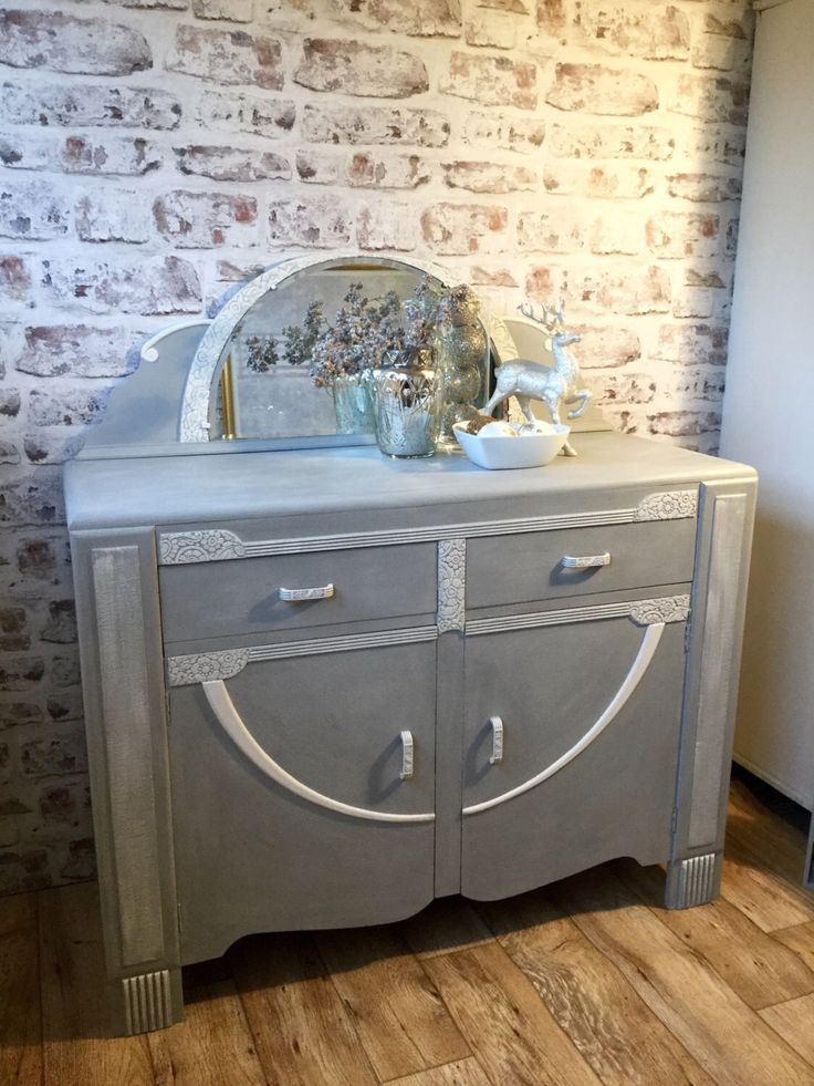 Sideboard Vintage Annie Sloan Paris Grey Dressersshabby Chic Furniturevintage