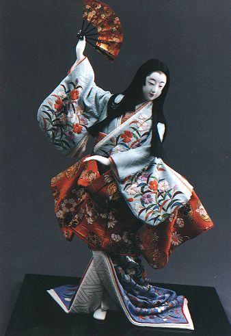 Traditional Japanese dolls by Kyoto dollmaker Shisui Sekihara