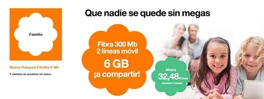 Nueva tarifa Canguro Familia 6GB de Orange para que nadie se quede sin megas. #FelizLunes