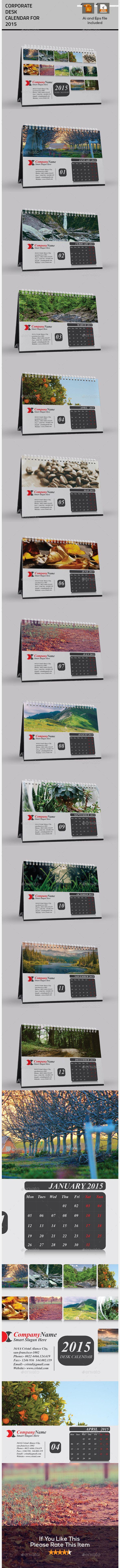 Nice Desktop Calendar For 2015 - Calendars Stationery