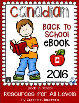 Some awesome Canadian TpT sellers have been busy these last few weeks getting ready to go back to school! To help you get started or add to your planned classroom resources, we have created a NEW collaborative eBook full of great teaching tips, products and freebies.