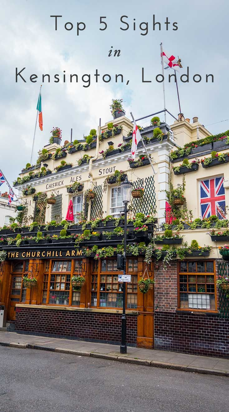 Best things to do and see in London for free. --- World's Most Beautiful...pubs! Gorgeous pub in Kensington, London covered in flowers each year. Full bloom in summer but spring is beautiful too. The Churchill Arms pub in Notting Hill.