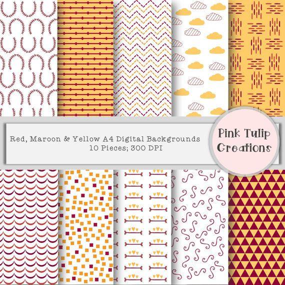 A4 Digital Clip Art Scrapbook Backgrounds  by PinkTulipCreation