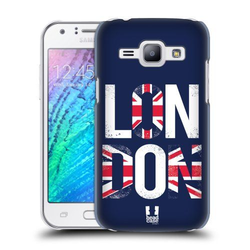 Pouzdro na mobil Samsung Galaxy J1 HEAD CASE LONDON NÁPIS