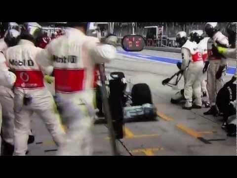 Lewis Hamilton stops at wrong pit - F1 Malaysian Grand Prix 2013