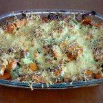 Ovenschotel zalm met zoete aardappel