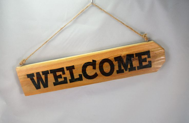 Welcome, Wooden Fence Picket Sign, Sublimation Printed, Rustic Fence Picket Sign, Door Sign, Front Door Sign, Welcome Sign by ForeverCharmz on Etsy