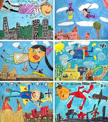 1st Grade Chagall Studies | Flickr - Photo Sharing!