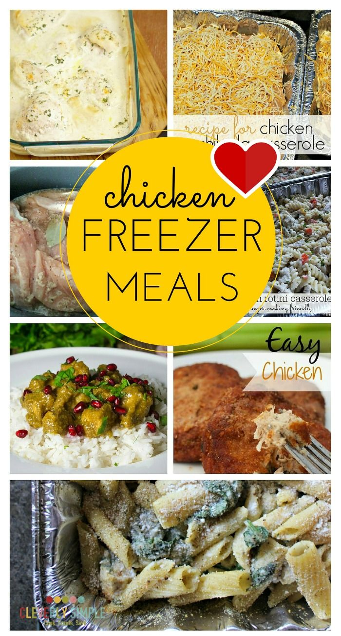 Chicken Freezer Meals -- Easy recipes to keep menu planning simple and save money on groceries!