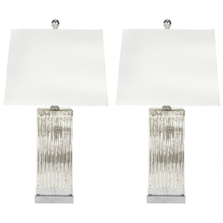 Safavieh Rock 2-Piece Rustic Lamp Set with Off-White Shades