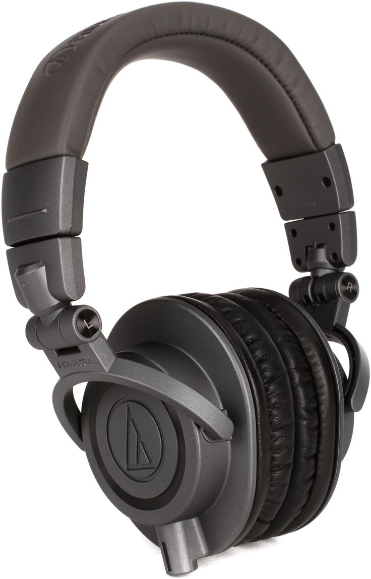 """Metallic Gray -- Closed-back Circumaural Headphones with Collapsible Design, 45mm Neodymium Magnet Drivers, Detachable Cables, 1/4"""" Adapter, and Pouch - Limited Edition Metallic Gray"""