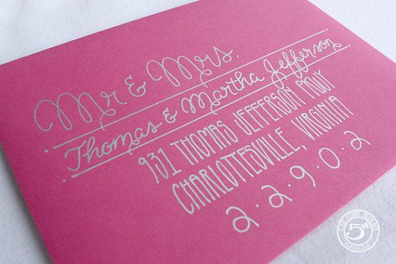 Wedding Calligraphy Envelope Addressing by 5thFloorDesigns on Etsy, $2.50