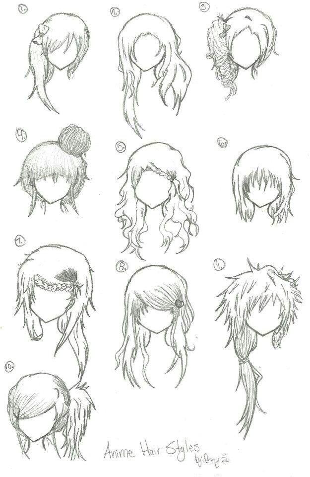 manga anime hair part 2