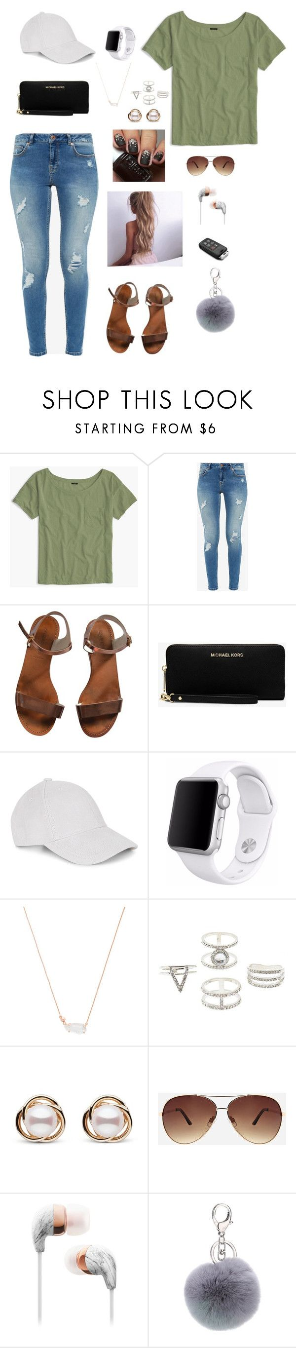"""Untitled #171"" by gabriellaallen on Polyvore featuring J.Crew, Ted Baker, Emporio Armani, Michael Kors, Le Amonie, Apple, Kendra Scott, Charlotte Russe, Trilogy and Ashley Stewart"