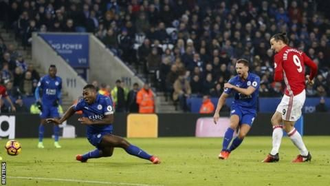 Premier League champions Leicester are just one point above the relegation zone after defeat at home by Manchester United left them still searching for a first league win in 2017.