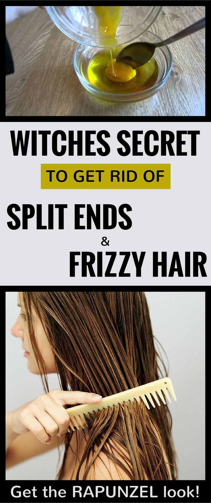Witches secret to get rid of split ends and frizzy hair 101beautytips org