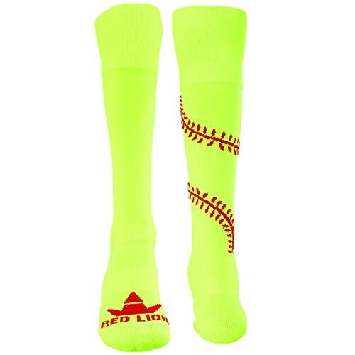 Red Lion Play Ball Knee High Athletic Socks  Neon Yel  Red  Small  *** Visit the image link more details. Note:It is affiliate link to Amazon.