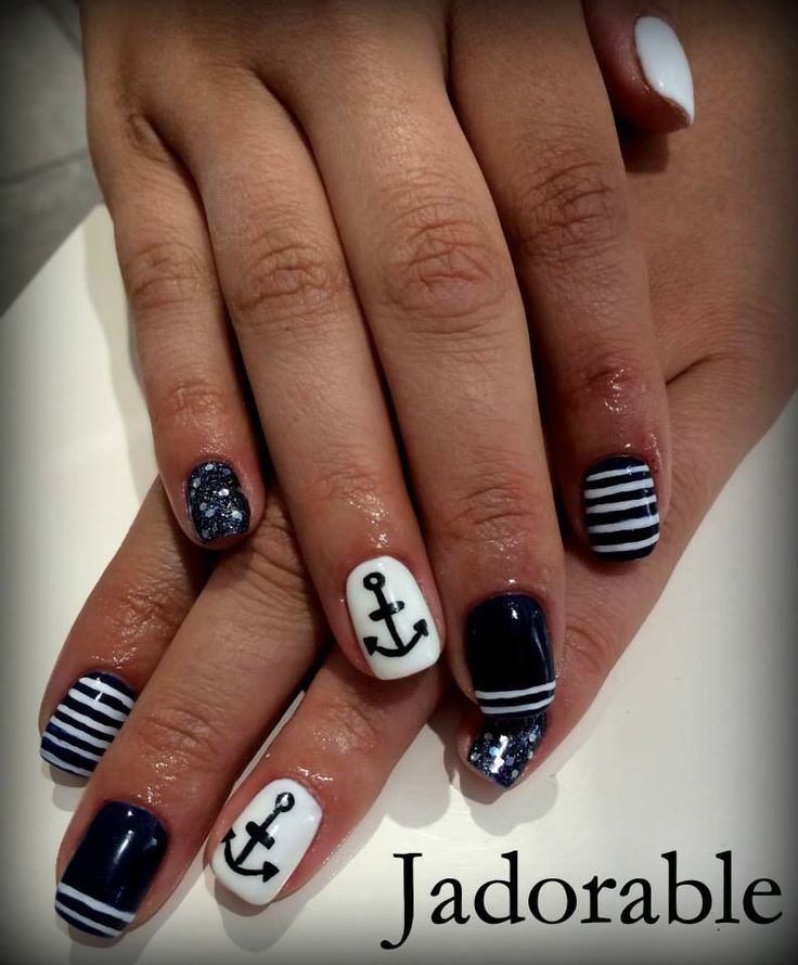 Dark Blue/Navy Nails
