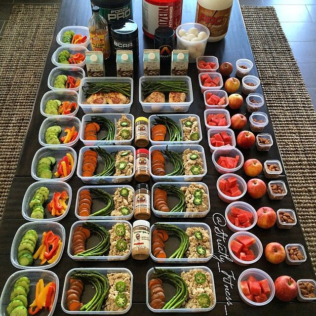 @strictly_fitness_ preps for the week  #Healthy  #Recipes
