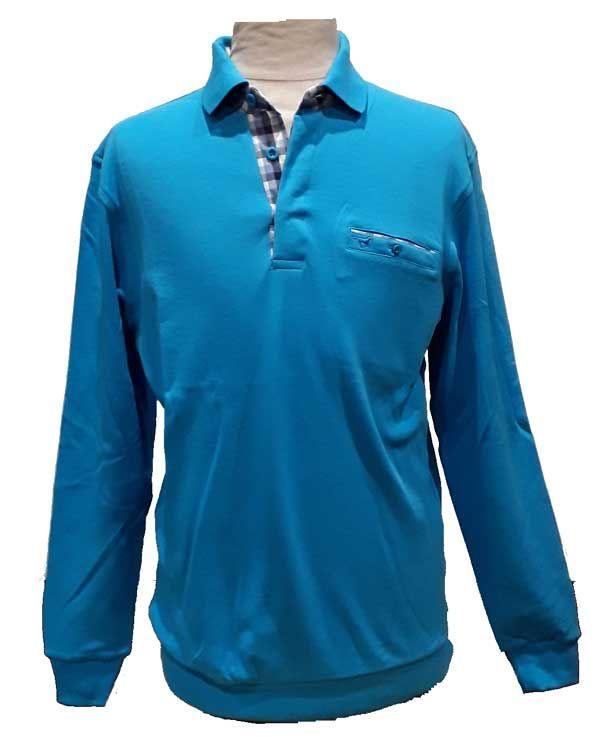 Polos MEN PLUS bleus Fashion homme ff1pZ7b
