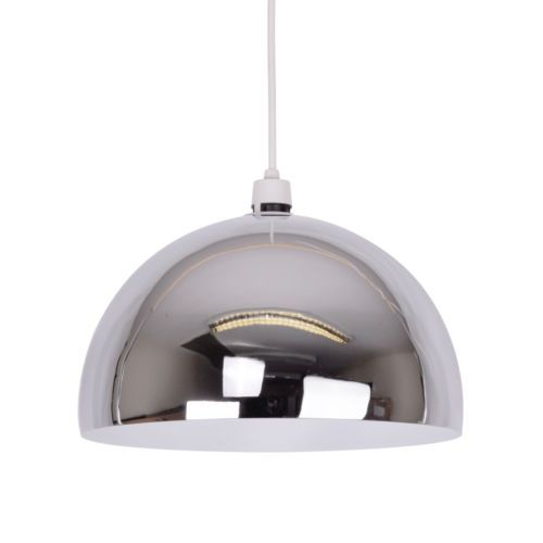 Large Metal Lamp Shade: Large Modern Chrome Retro Metal Dome Ceiling Pendant Light