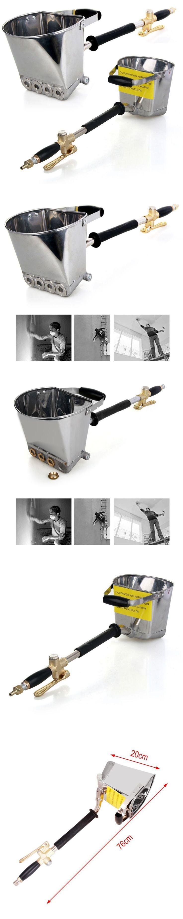 """Air Stucco Cement Plaster Texture Hopper Sprayer Gun Wall Plastering Tool 30""""  Jet Cement Mortar Sprayer Hopper Stucco"""