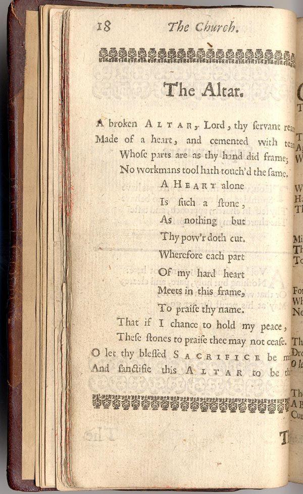 The Altar by George Herbert - a favorite poem