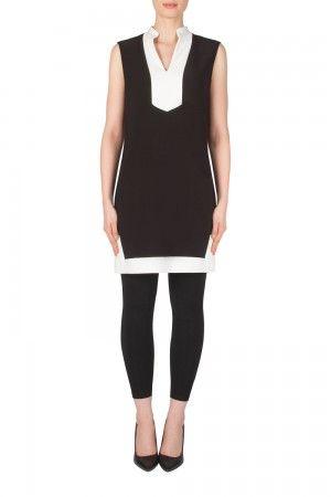 f29b0d302ce Joseph Ribkoff Black Vanilla Tunic Dress Style 181051