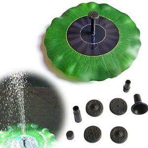jardín de energía solar Roilois pozoconstellation bomba de estanque solar fuente de hojas de bomba de agua de ciclo de riego de plantas de jardín: Amazon.es: Jardín
