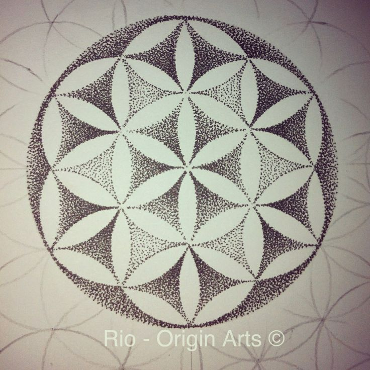 flower of life dotwork tattoo - Google Search