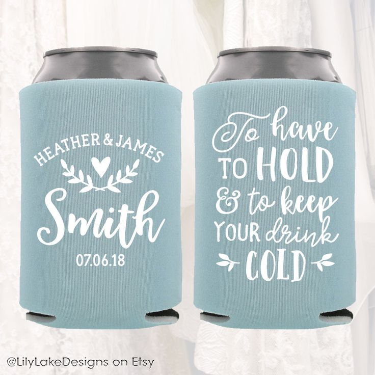 personalized wedding can cooler customized wedding favors