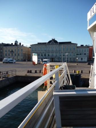 Fähre nach Suomenlinna an einem Sommerabend, Helsinki 2012