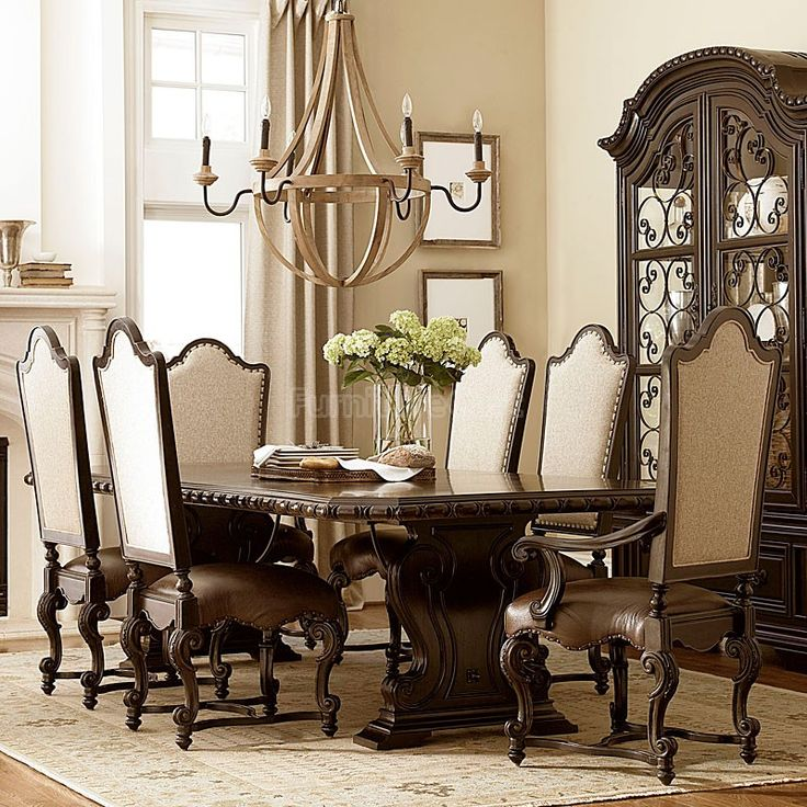 Castella Valencia Dining Room Set W/ Upholstered Chairs In