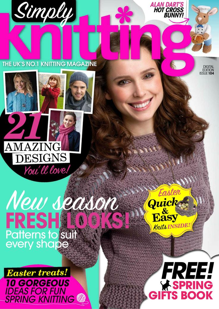 Simply Knitting Magazine : Simply knitting april magazines crochet pinterest and simple