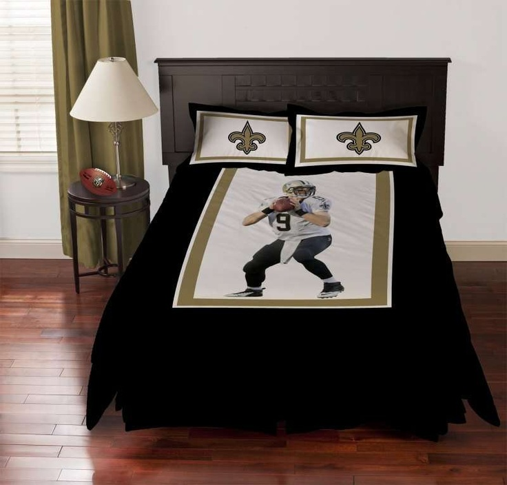 Awesome New Orleans Saints Drew Brees Biggshots Comforter Set $158.99 From  Www.bedding.com #