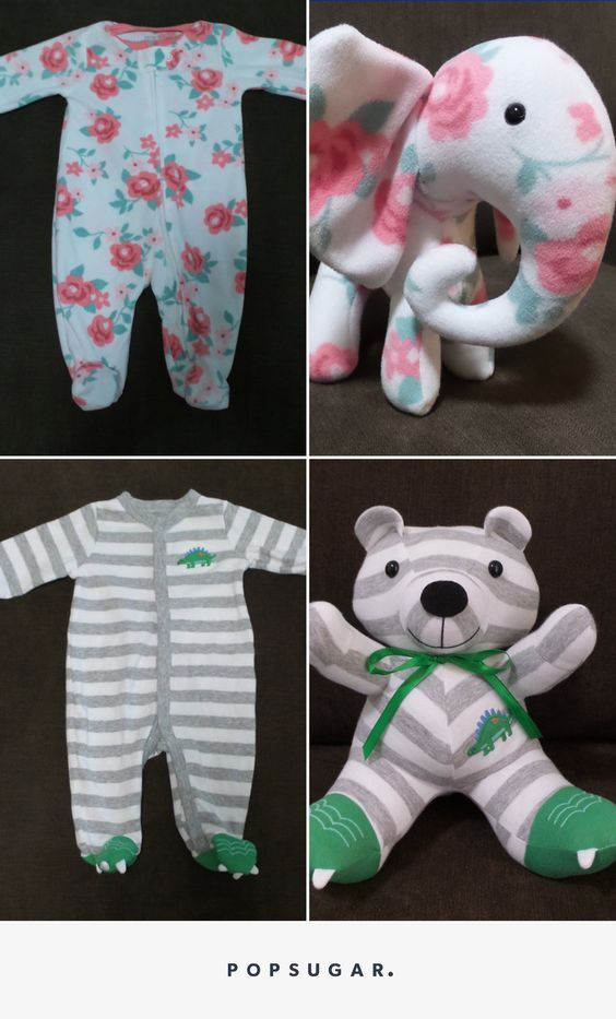 Baby Onesie Bear Keepsake - 10 Creative Baby Keepsake Ideas on Pretty My Party.
