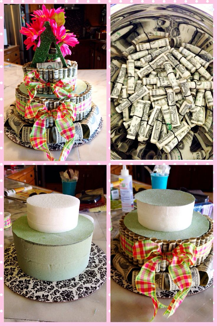 Instructions For Money Birthday Cake