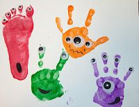 Halloween -handprint monster craft