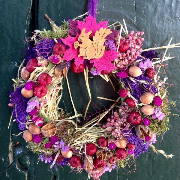 Türkränze - Herbstlicher Türkranz - lila pink ♥ - ein Designerstück von…