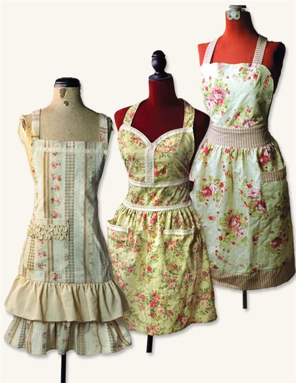 This vintage-style primrose apron is great for the lady of the house.