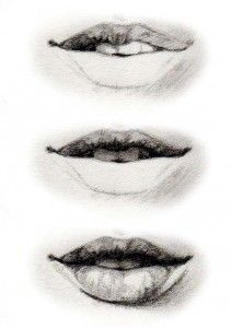 How to draw a mouth 3